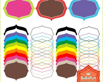 Instant Downloads, 12 X 4 Sets Frames Clip Art. For Your Handmade Crafts Projects. Personal and Small Commercial Use. BP 0288