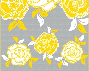 Digital Rose Clip Art. Personal and Small Commercial Use. BP 0307