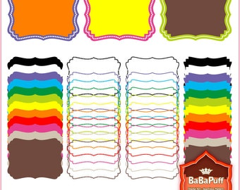 Instant Downloads, 12 Digital Frames X 4 Sets. Clip Art For Personal and Small Commercial Use. BP 0383