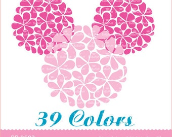 Instant Downloads, 39 Flower Design ClipArt For Wedding Invitation Cards, Handmade Craft Project. Personal and Small Commercial Use. BP 0503