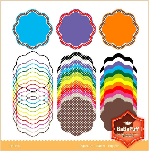 Frame Designs - 12 Frame Clip Art Elements, 3 Set. Personal and Small Commercial Use. BP 0256