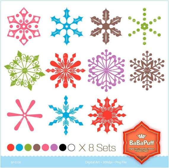 Watch more like Colorful Snowflake Border