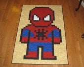 Lap Size Spiderman and Batman Quilts for Tina