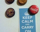 4 bottlecap fridge magnets