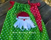Ribbon Santa Pillowcase Romper