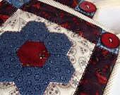 Hand Quilted Potholders Set of Two  Decorative for Home
