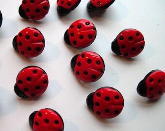 10x ladybird buttons UK SELLER