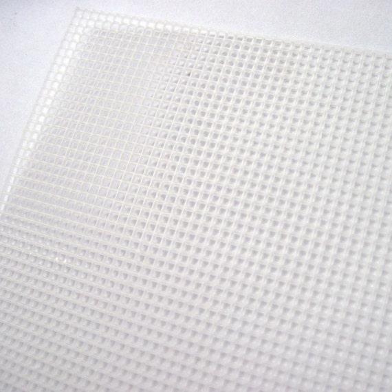 Plastic canvas grid, bag making, cross stitch