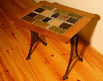Oak & Tile Table