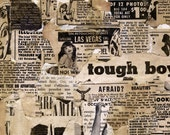 TOUGH BOYS/ original collage art print 8x10 mat // pin-up girl, stripper, nsfw, Vegas
