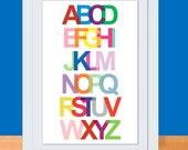 Alphabet Art Print - 11 x 17 ABC Poster