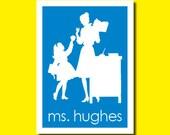 Teacher Silhouette Notecards - Set of 8