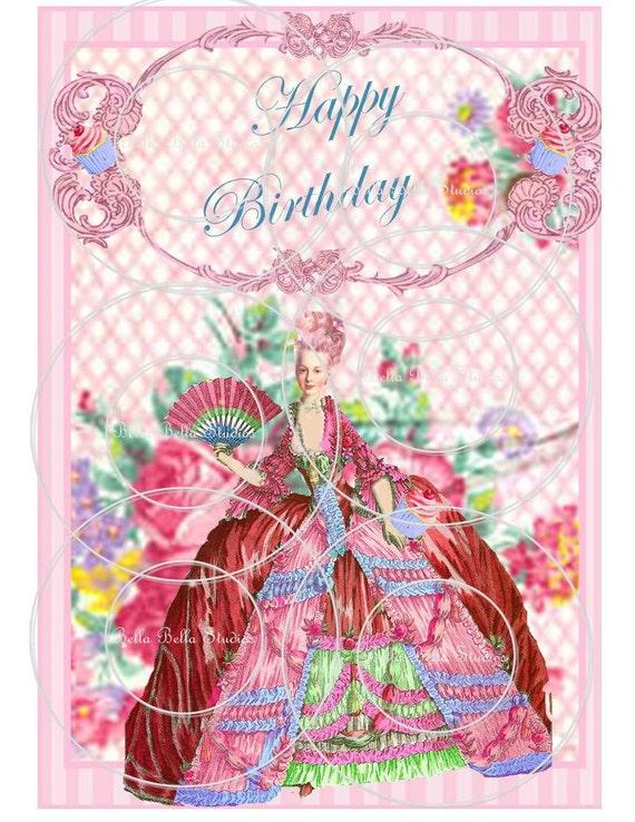 Marie Antoinette Let Them Eat Cake Printable Happy Birthday