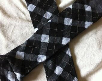 Black and White Argyle Moxy Sox