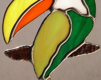 Stained Glass Toucan Bird  448