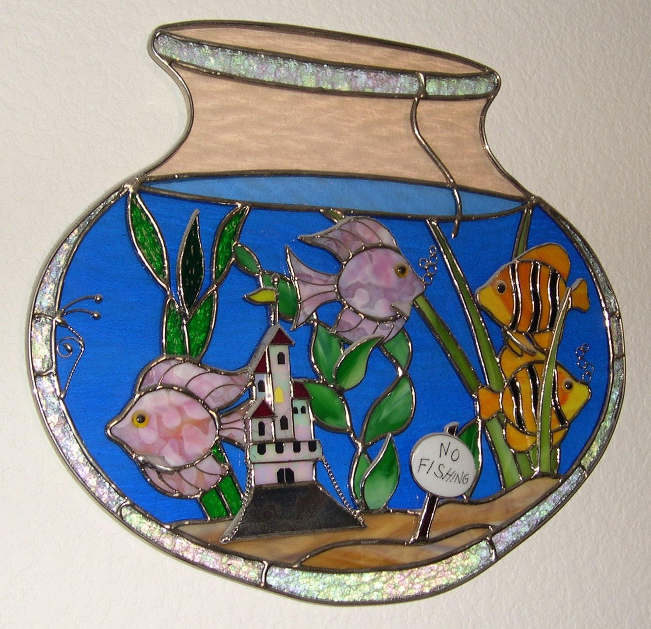 Stained Glass Fish Bowl 3 Dimensional By Stainedglassbywalter