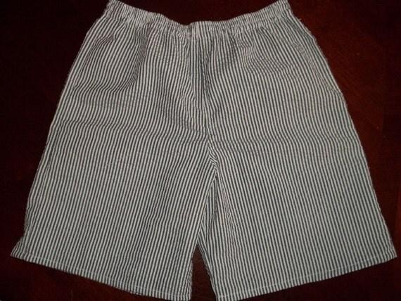 Black Stripe Seersucker Shorts - Toddler Sizes 12 months to 4T