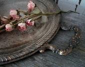 Wonderful Patina Silver Tray