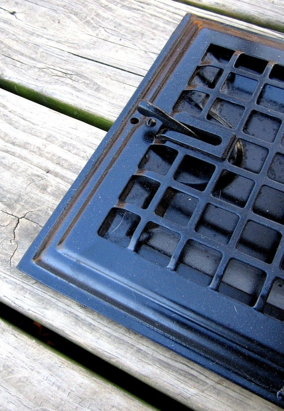 Large metal floor grate architectural salvage by for 10 x 12 floor grate