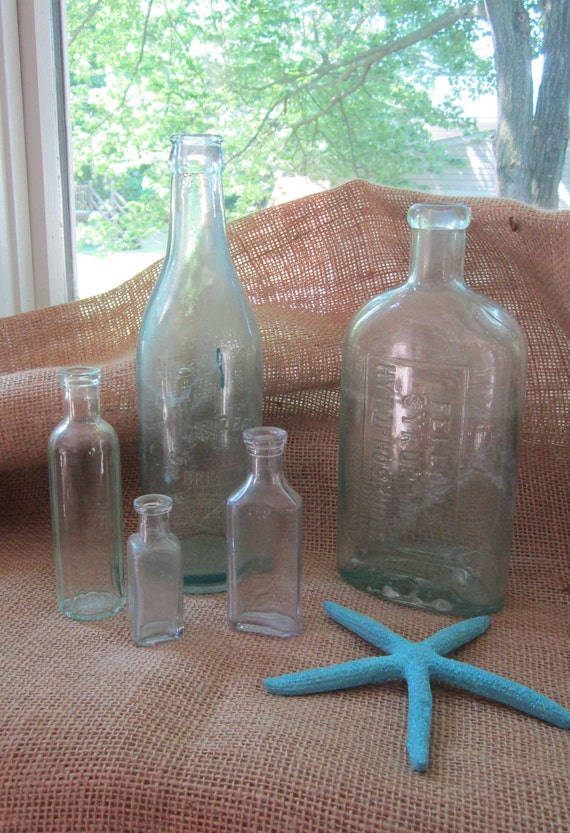 Apothecary Bottles - Set of 5