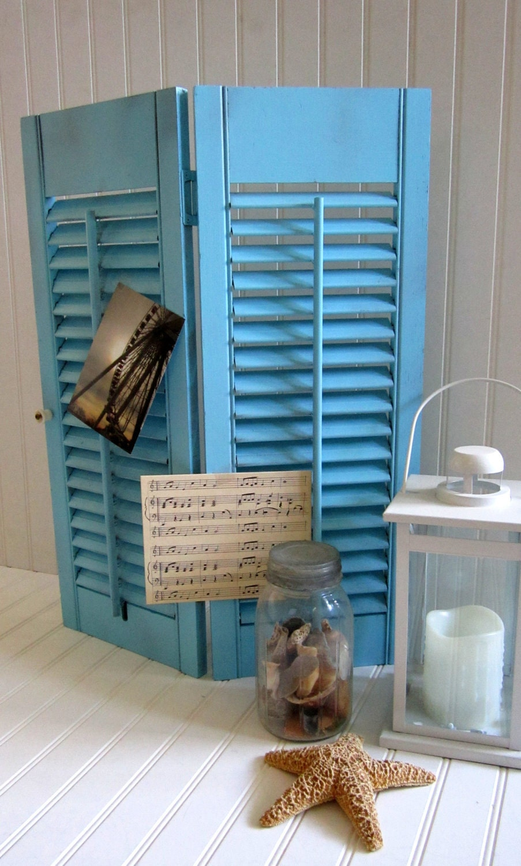 Decorative louver plantation wooden shutter by cozycottagechic for Decorative louvers