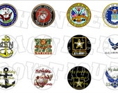 All Branches Military bottlecap image sheet
