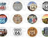 Get your kicks on Route 66 bottlecap image sheet