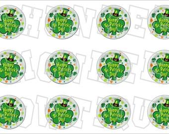 Happy St. Patrick's Day bottlecap image sheet