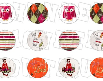 Made to Match Gymboree M2MG Fall Homecoming bottlecap image sheet