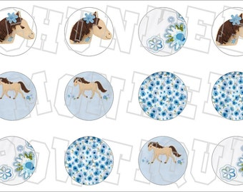 Made to Match Gymboree M2MG Malibu Cowgirl bottlecap image sheet