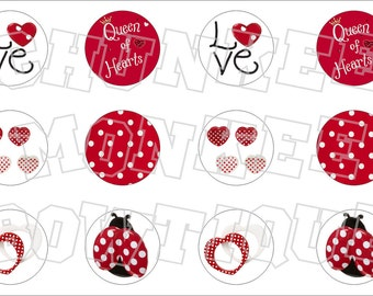 Made to Match Gymboree M2MG Valentine's Day 2011 bottlecap image sheet