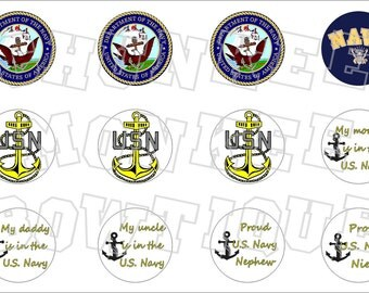 US Navy military bottlecap image sheet