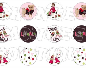 Made to Match Gymboree M2MG Pups and Kisses bottlecap image sheet