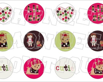 Made to Match Gymboree M2MG Pups and Kisses No. 2 bottlecap image sheet