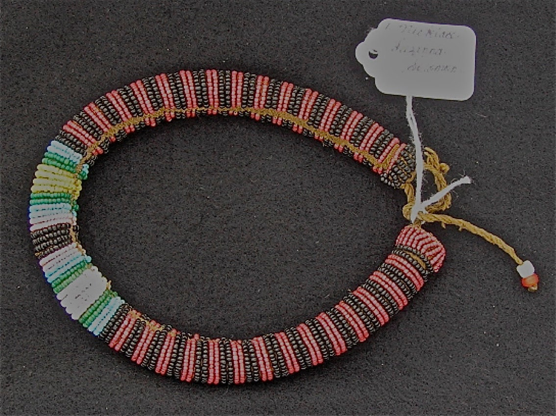 zulu beaded cord necklace before 1940 by suzannasolomon on