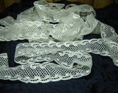 """Beautiful white embroidered lace, 7 1/2 yds., 2 1/2"""" wide, ON SALE"""