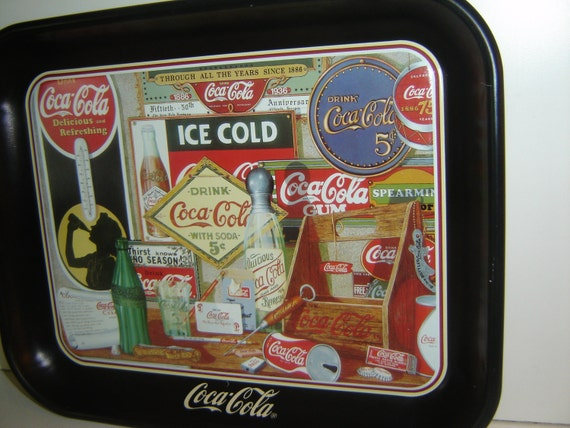 Collectible Coke/Coca Cola Tray, limited edition, Through the Years, signed Sandra E. Porter, 1990, ready to ship, TREASURY ITEM