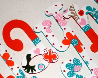 Lizzie - Hand Painted Wooden Wall Letters - Nursery Letters