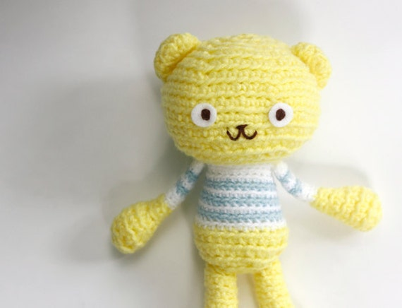 Amigurumi Lemon : Items similar to Crochet Amigurumi Teddy Bear - Lemon ...