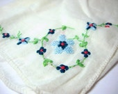 Vintage White Embroidered Hanky