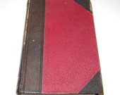 Antique leather bound book Bible Readings nice rustic decor