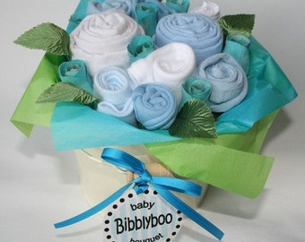 Blue Baby Clothing Bouquet