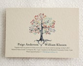 Printable Wedding Invitation & RSVP Postcard - Rustic Woodland Tree
