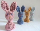 bunny egg cozy. crochet egg cozy