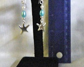 Sea blue pearly dangles with star charm