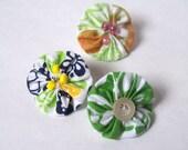Set of 3 flower push pins