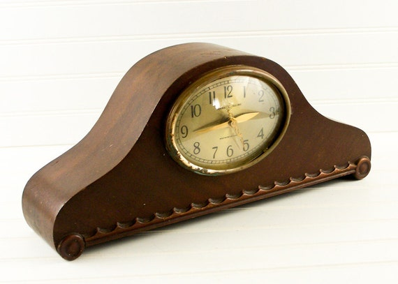 Reserved for Betti Altieri   General Electric Westminster Telechron Electric Chime Mantel Clock Gold Face
