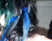 Feather Clip, Hair Extension Jewel Tone Blue