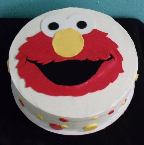Elmo Cake Toppers Decorations : Edible Fondant Cake Topper Sesame Street Elmo by eatcakeart
