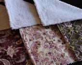 Burp Cloths - set of 3 Girl Paisleys